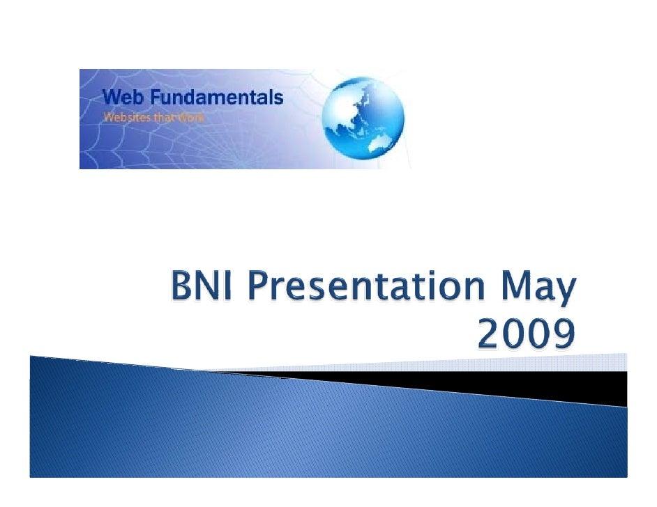 Bni Presentation May 2009