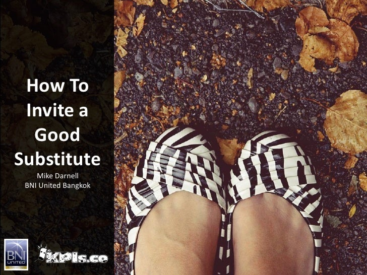 How To Find Effective Substitutes to Represent Your Business
