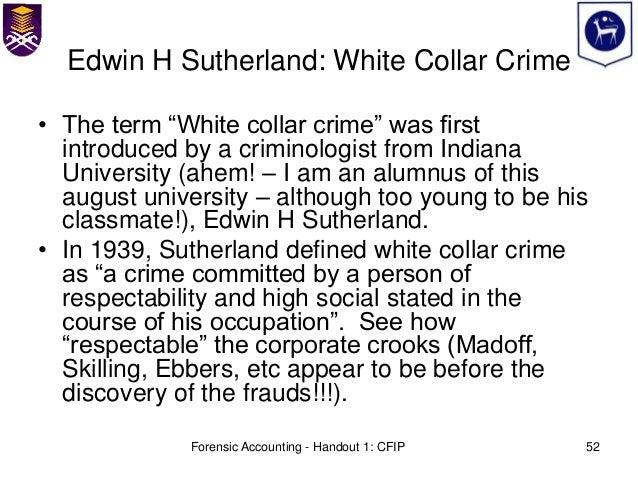 white collar crime essay questions
