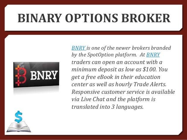 Binary option robot minimum deposit