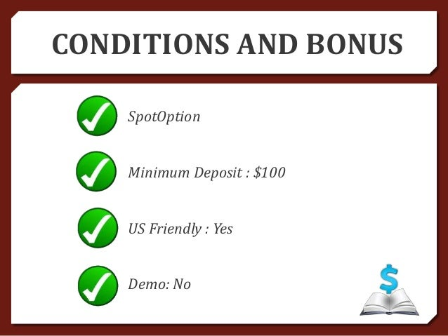 Binary options with no minimum deposit