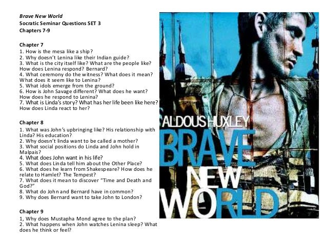 essay topics for brave new world 1 brave new world: a critical analysis a recommended read for anyone, a true eye-opener to our society's follies and rapid progress towards perfection.
