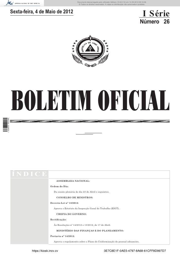 Documento descarregado pelo utilizador Adilson (10.8.0.12) em 14-05-2012 09:16:36.                                        ...