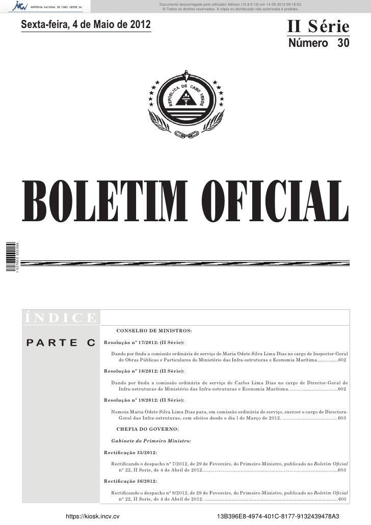Documento descarregado pelo utilizador Adilson (10.8.0.12) em 14-05-2012 09:16:53.                                        ...