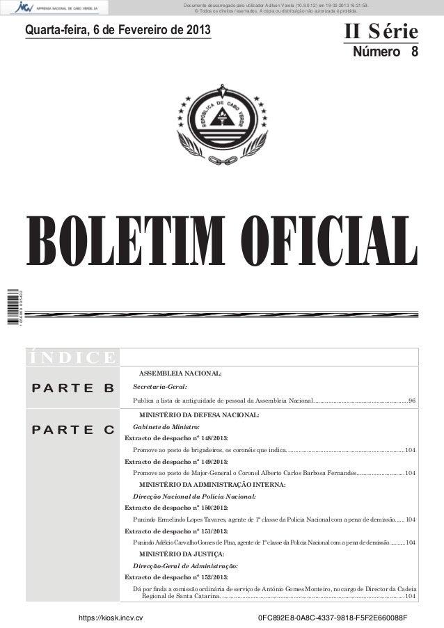Documento descarregado pelo utilizador Adilson Varela (10.8.0.12) em 18-02-2013 16:21:59. © Todos os direitos reservados. ...
