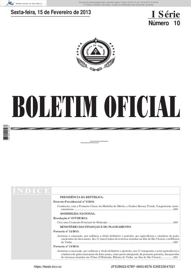 Documento descarregado pelo utilizador Adilson Varela (10.8.0.12) em 18-02-2013 16:23:04. © Todos os direitos reservados. ...