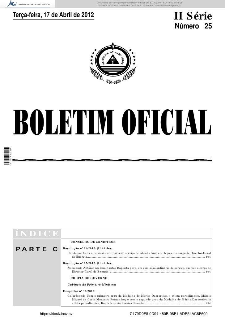 Documento descarregado pelo utilizador Adilson (10.8.0.12) em 18-04-2012 11:29:39.                                        ...