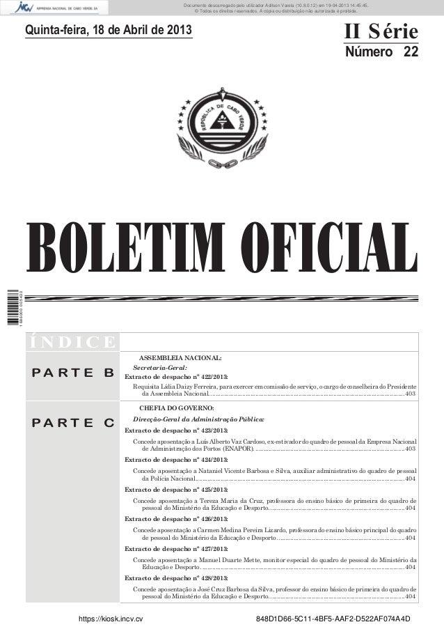 Documento descarregado pelo utilizador Adilson Varela (10.8.0.12) em 19-04-2013 14:45:45. © Todos os direitos reservados. ...