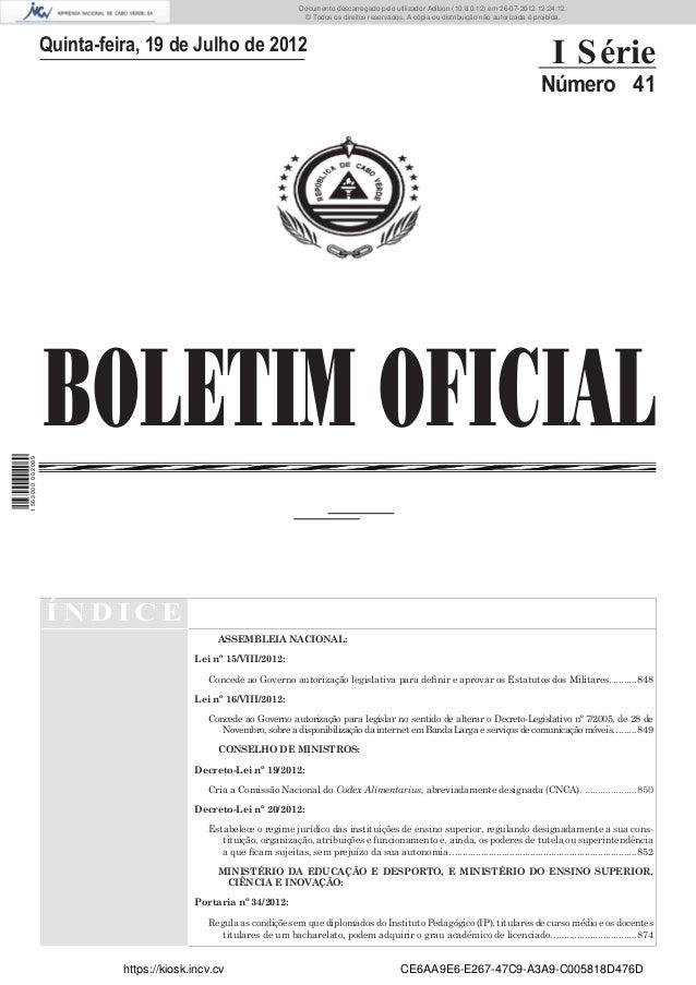 Documento descarregado pelo utilizador Adilson (10.8.0.12) em 26-07-2012 12:24:12.                                        ...