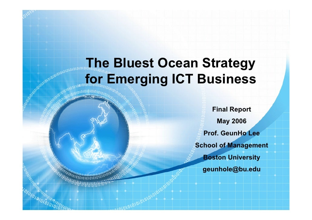 Blue Ocean Strategy for Emerging ICT Business