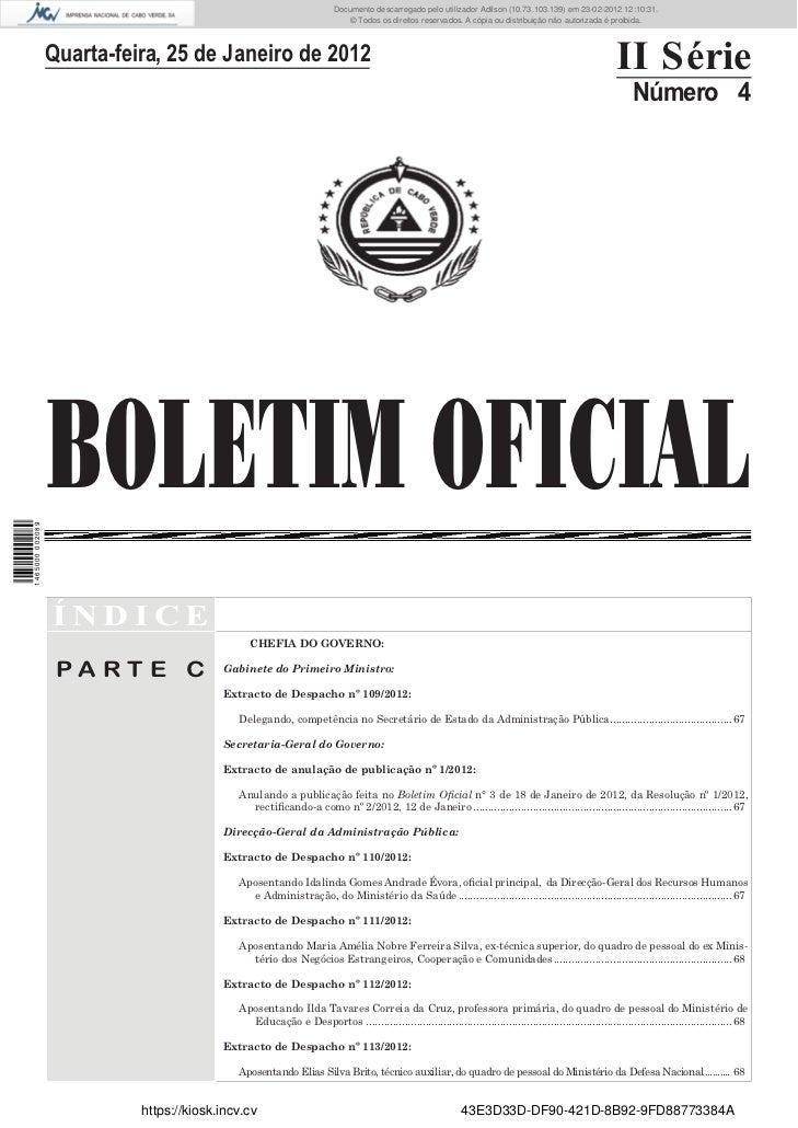 Documento descarregado pelo utilizador Felismino Thomás (10.73.102.134) em 23-02-2012 10:50:13.                           ...