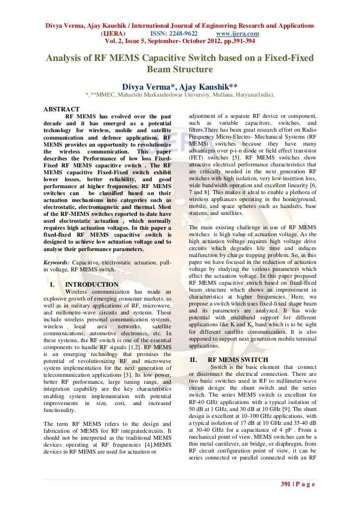 Divya Verma, Ajay Kaushik / International Journal of Engineering Research and Applications                 (IJERA)        ...