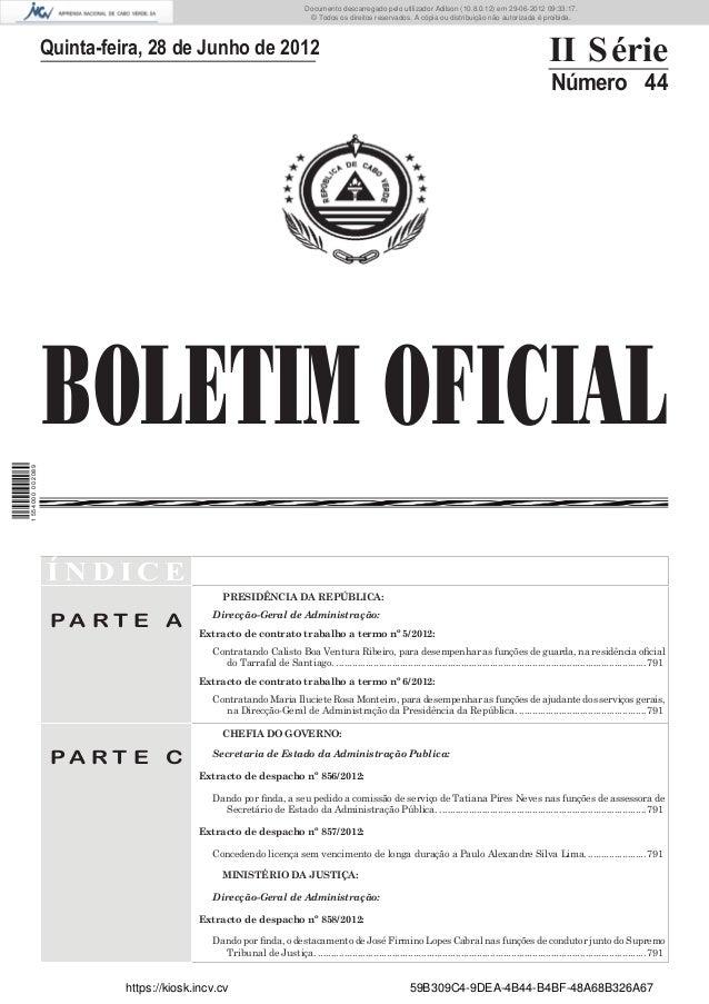 Documento descarregado pelo utilizador Adilson (10.8.0.12) em 29-06-2012 09:33:17.                                        ...