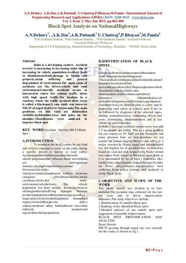 A.N.Dehury, A.K.Das,A.K.Pattnaik, U.Chattraj,P.Bhuyan,M.Panda / International Journal ofEngineering Research and Applicati...