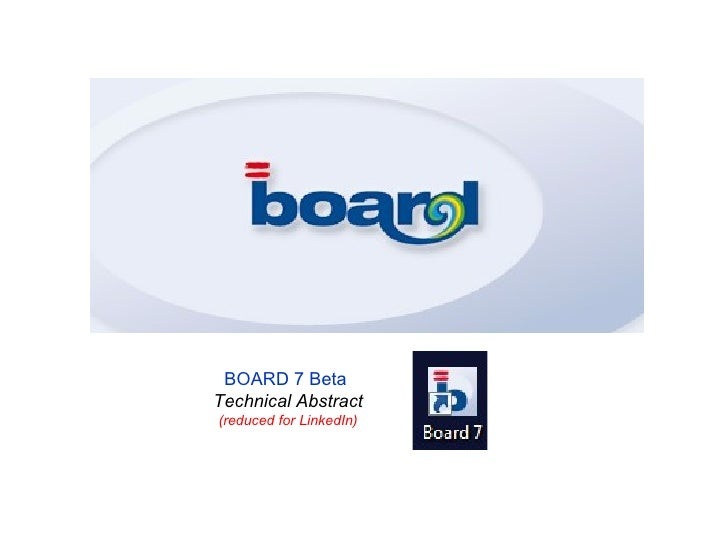 BOARD 7 Beta Technical Abstract (reduced for LinkedIn)