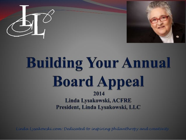 Designing Your Annual Board Appeal
