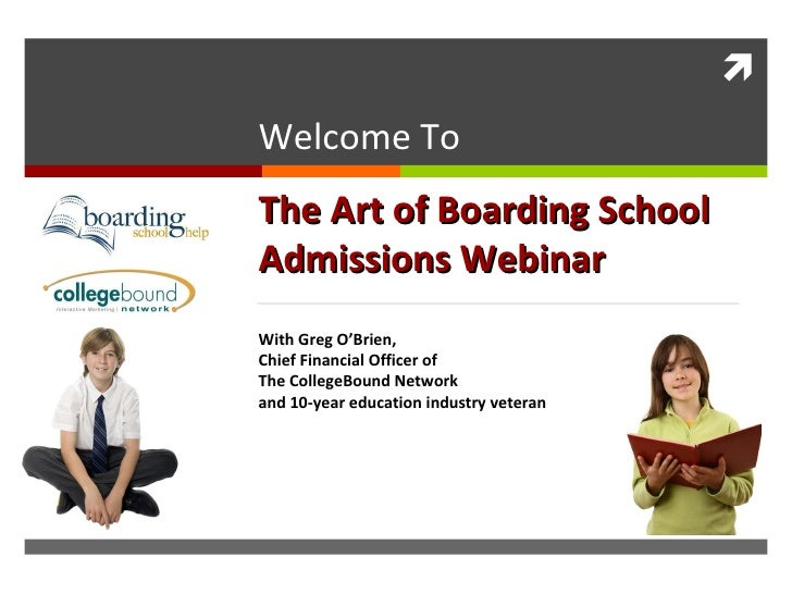 The Art of Boarding School Admission