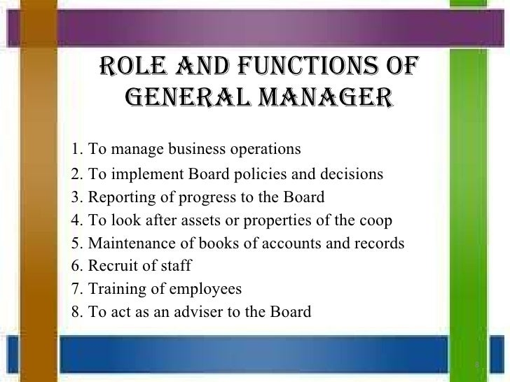 five general functions of a supervisor Know the general inputs major functions of planning, organizing, leading, and controlling function of management concerns the manager's role in.