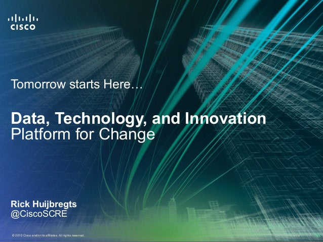 Data, Technology, and Innovation: Platform for Change
