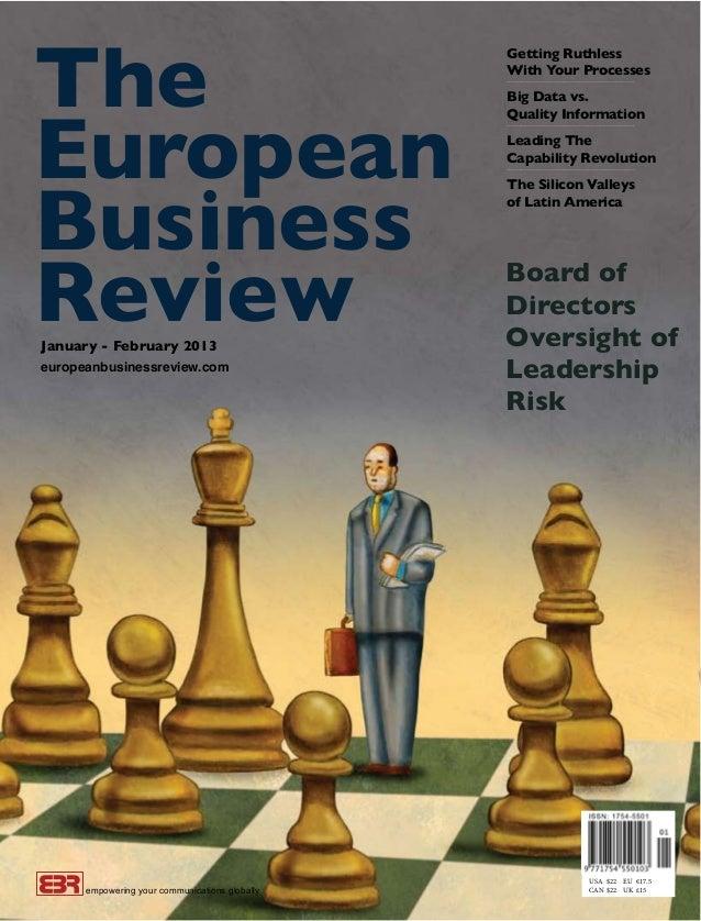 Board of Directors Oversight of Leadership Risk