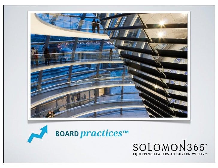 What Problems Does it Solve?• Inefficient board processes (agenda,  roles, mechanics) limit productivity• Board's limited ...