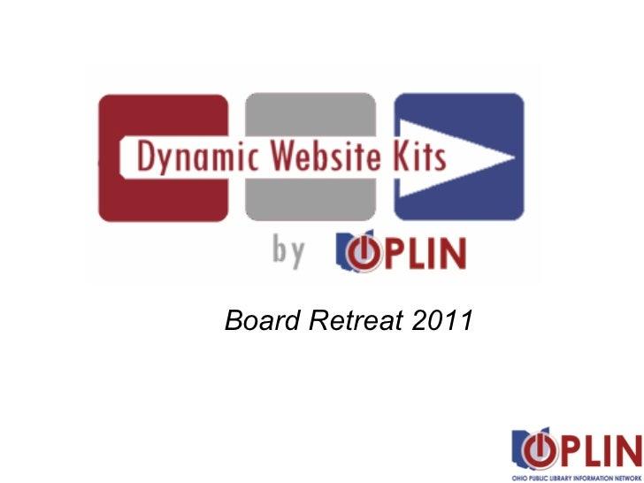 OPLIN Dynamic Website Kits overview--2011