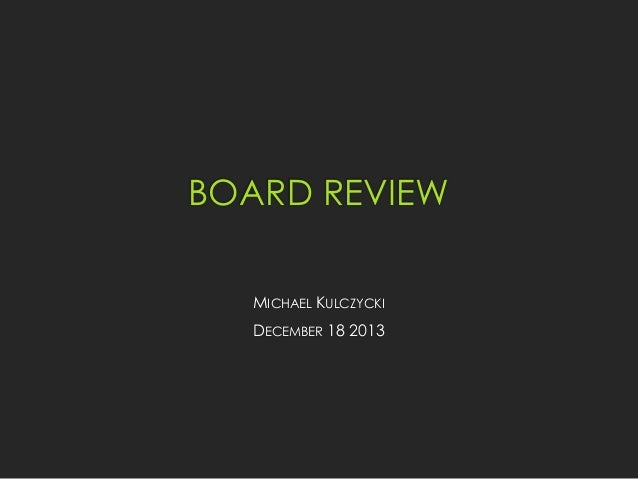 Michael Kulczycki, DO- Infectious Disease Board Review 2014- ARMC Emergency Medicine