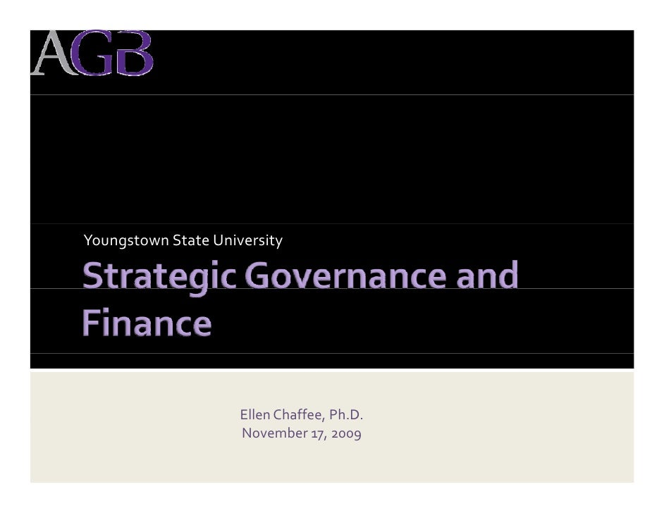 Board Workshop On Strategic Governance And Finance