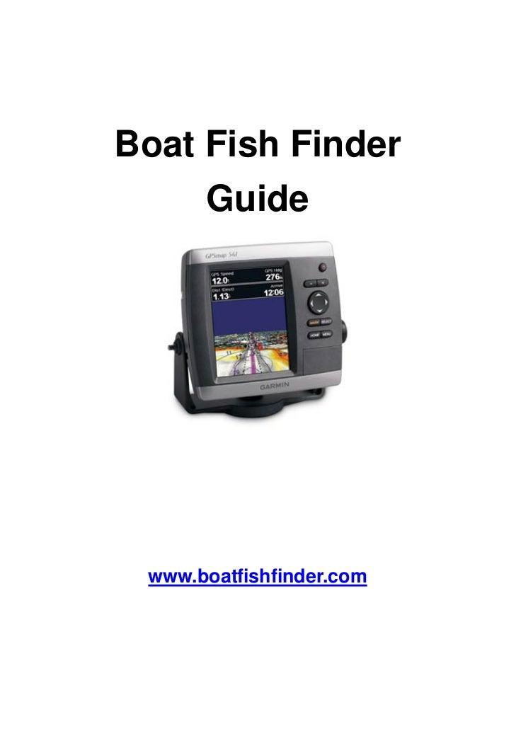 Boat fish finder guide