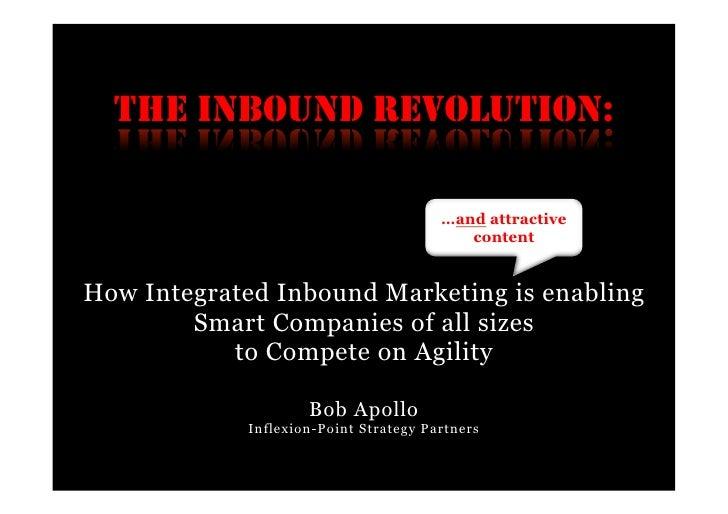 THE INBOUND REVOLUTION:                                       …and attractive                                          con...