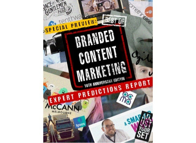BOBCM: Expert Predictions Report - Best of Branded Content Marketing Volume II