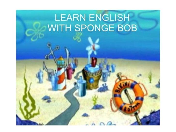 Bob esponja te enseña Inglés
