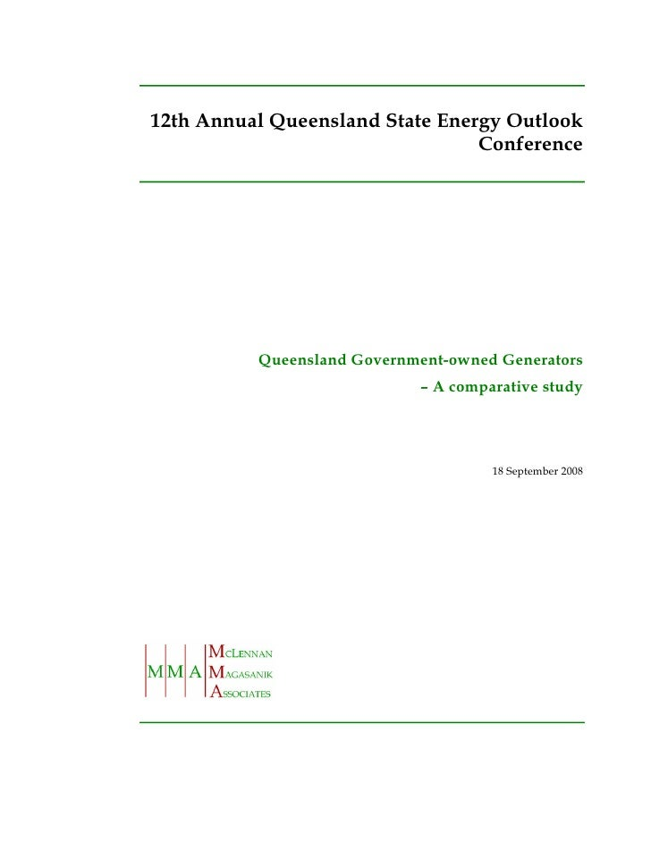 12th Annual Queensland State Energy Outlook                                  Conference               Queensland Governmen...