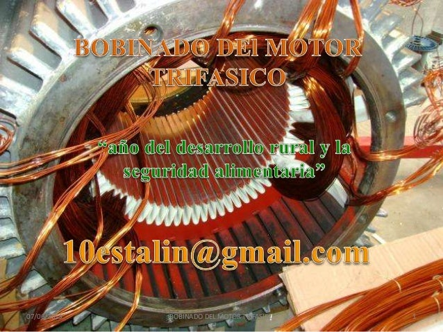 Bobinado del motor trifasico