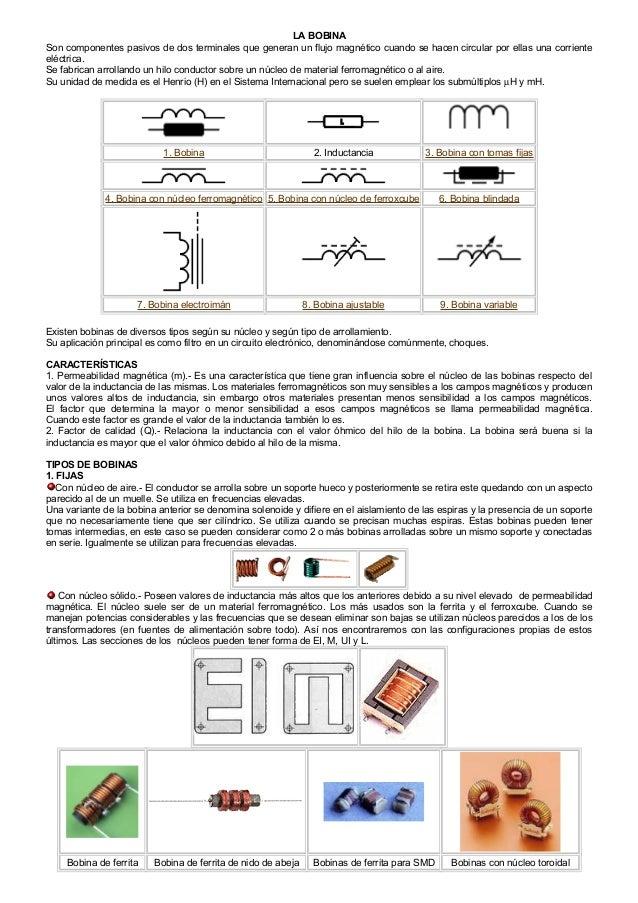 LA BOBINASon componentes pasivos de dos terminales que generan un flujo magnético cuando se hacen circular por ellas una c...