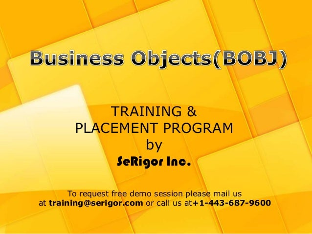 BOBJ Training and Placement Program