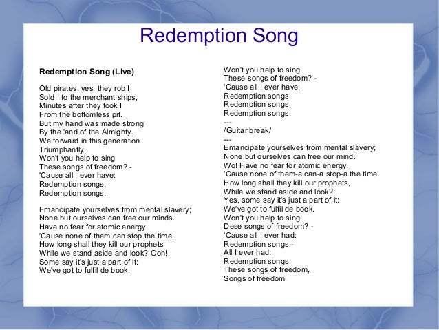 Redemption Song Razor Ray - YouTube