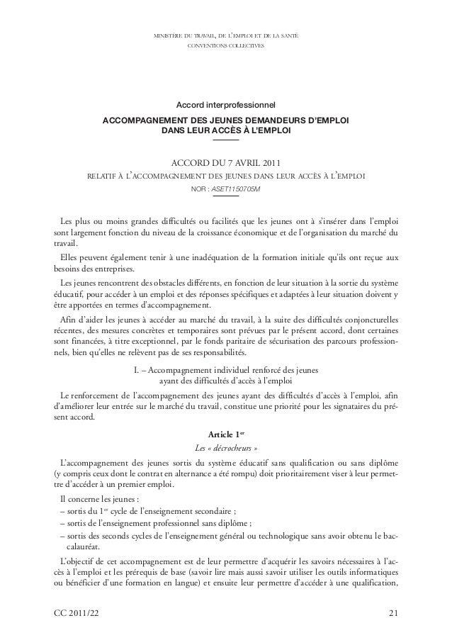 MINISTÈRE DU TRAVAIL, DE L'EMPLOI ET DE LA SANTÉ                                         CONVENTIONS COLLECTIVES          ...