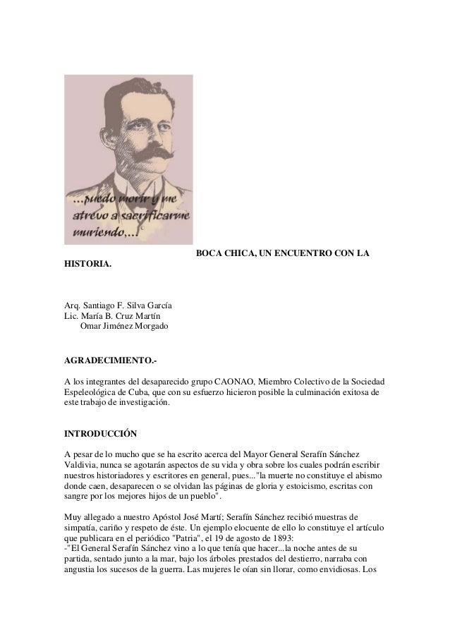 BOCA CHICA, UN ENCUENTRO CON LAHISTORIA.Arq. Santiago F. Silva GarcíaLic. María B. Cruz MartínOmar Jiménez MorgadoAGRADECI...