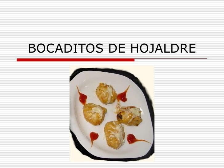 BOCADITOS DE HOJALDRE