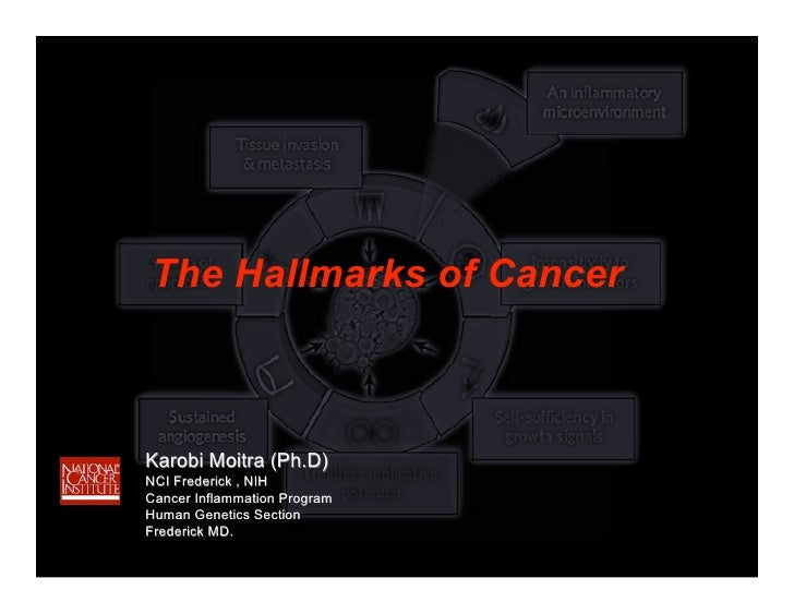 The Hallmarks of Cancer    Karobi Moitra (Ph.D) NCI Frederick , NIH Cancer Inflammation Program Human Genetics Section Fre...