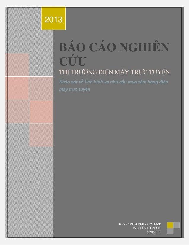 Báo cáo nghiên cứu thị trường Điện máy trực tuyến Việt Nam 2013