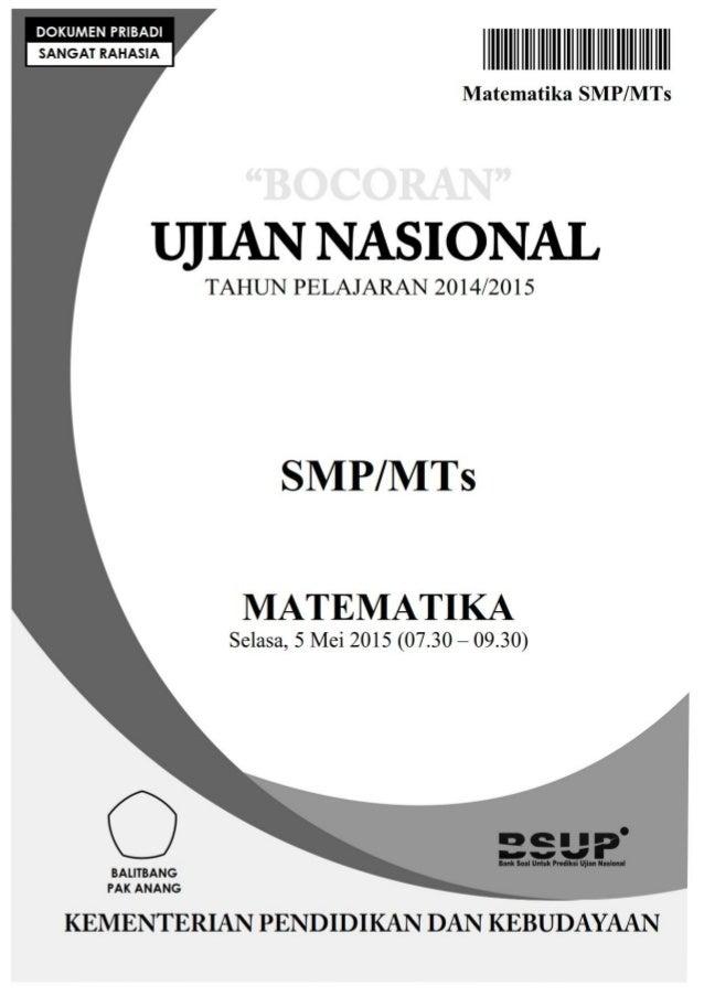 Soal Un Matematika Smp Tahun 2016 Newhairstylesformen2014 Com