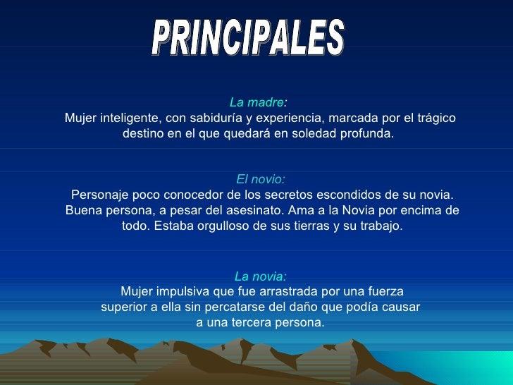 PERSONAJES; 5. PRINCIPALES La