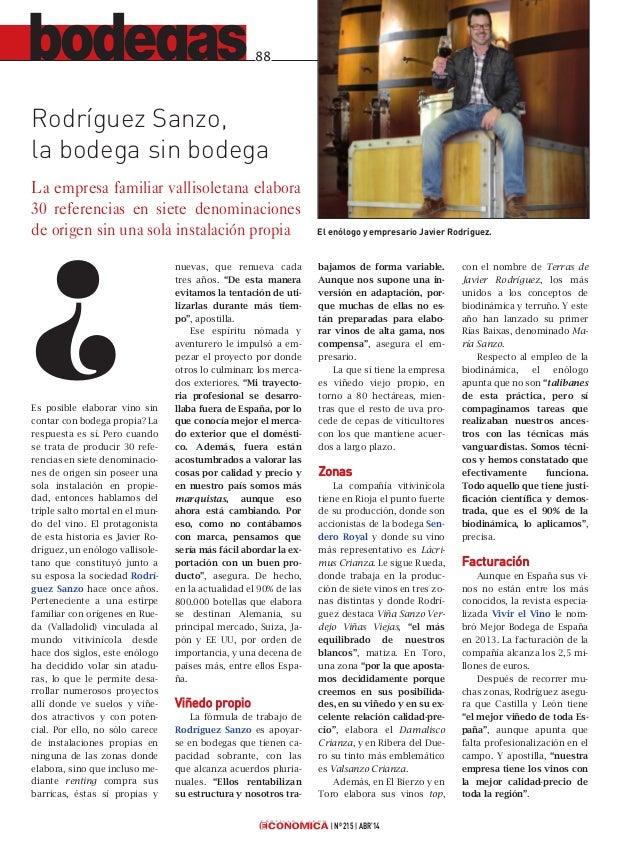 Rodríguez Sanzo en Castilla y León Económica