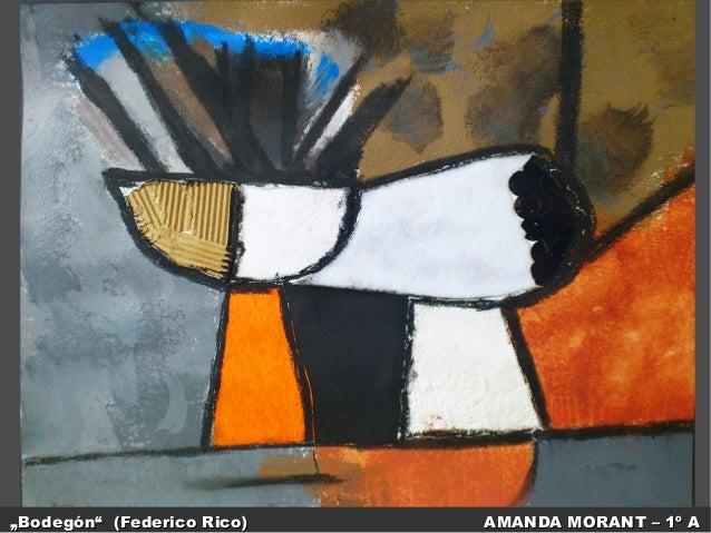 """Bodegón"" (Federico Rico)  AMANDA MORANT – 1º A"