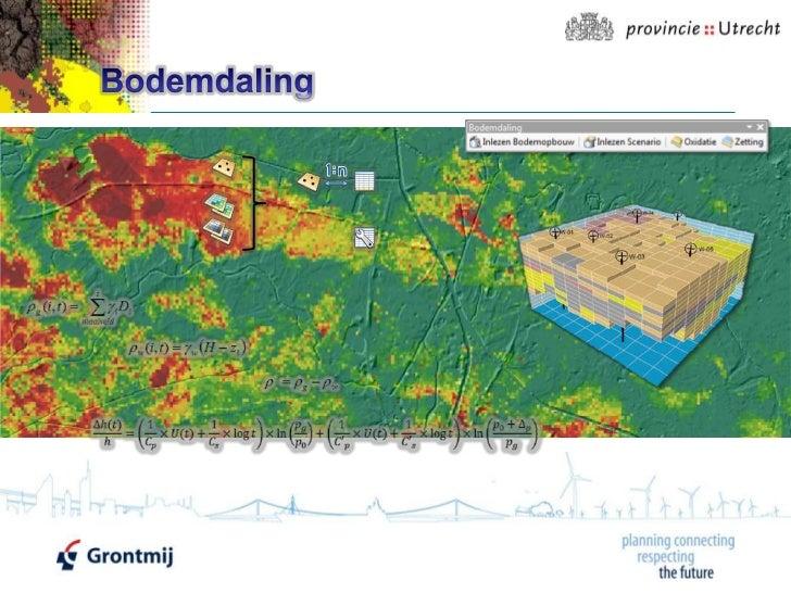 Bodemdaling model Provincie Utrecht - Grontmij