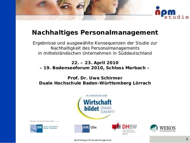 © LBU AG 1Nachhaltiges Personalmanagement09.06.08 Nachhaltiges Personalmanagement Ergebnisse und ausgewählte Konsequenzen ...