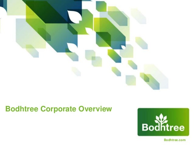 Bodhtree Corporate Overview
