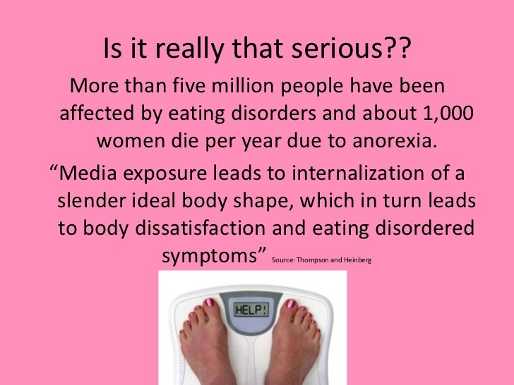 essays on media influence on eating disorders